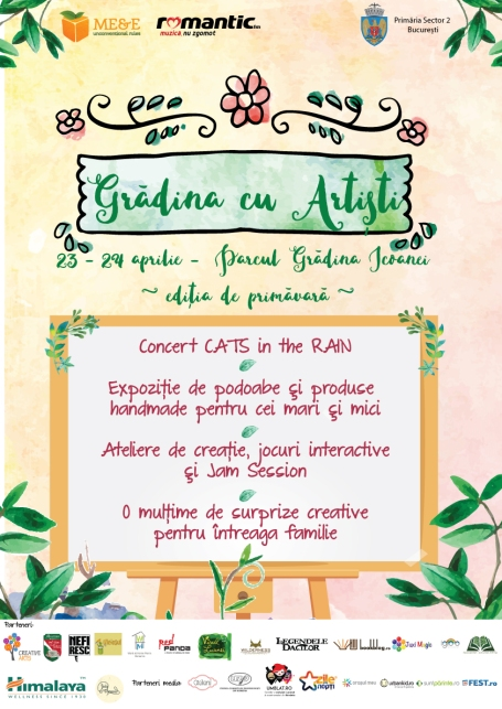 Poster Grădina cu Artiști-final