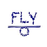 FLY O LOGO navy