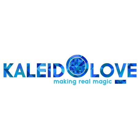 Logo Kaleidolove Cu slogan - transparent