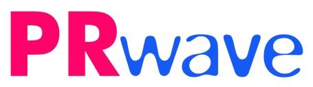 logo PRwave pe alb